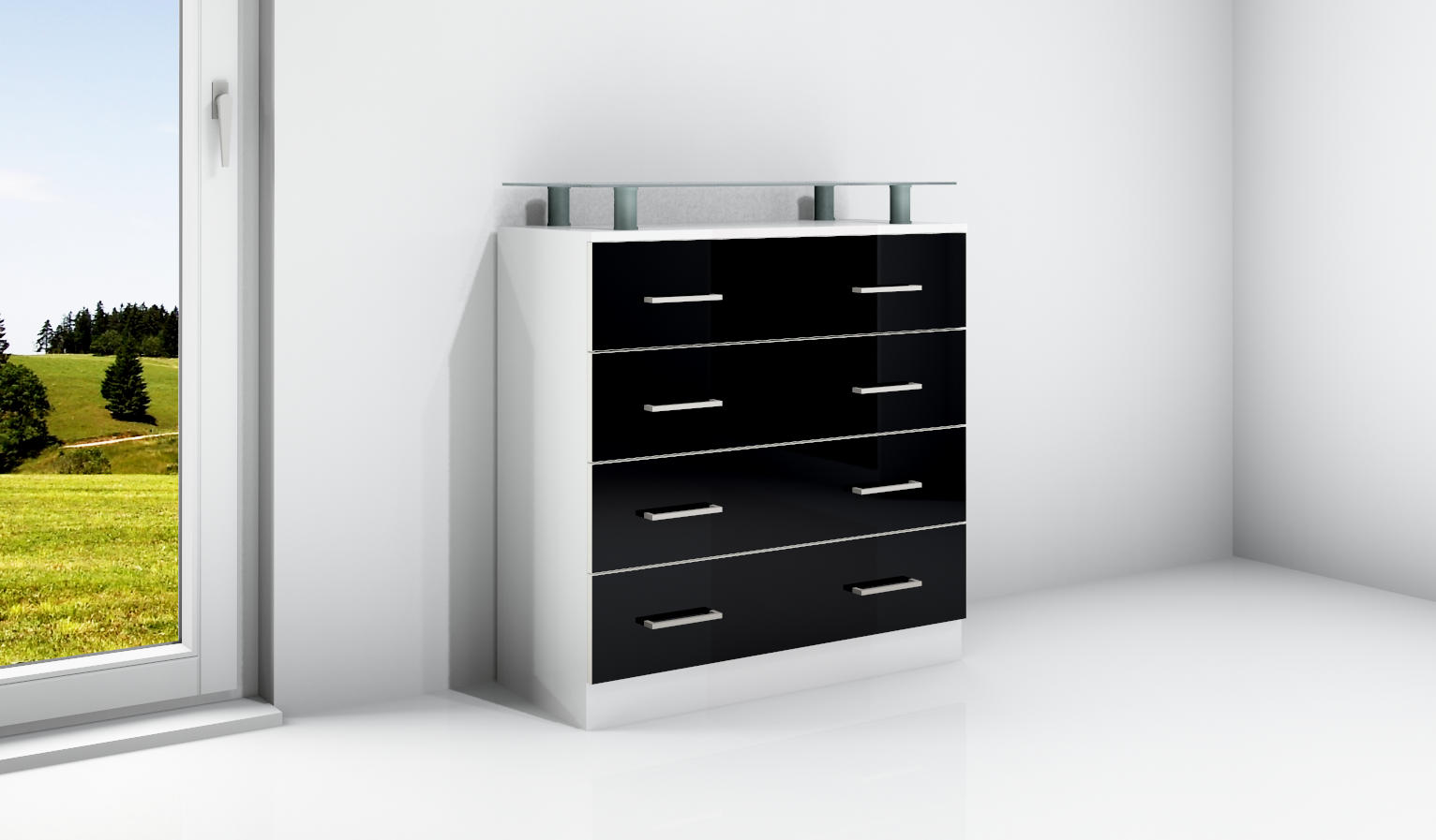 kommode v1 anrichte sideboard schrank m bel flur diele. Black Bedroom Furniture Sets. Home Design Ideas